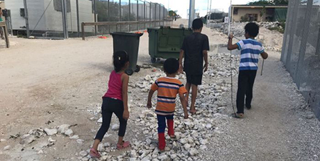 Asylum-seeker children in detention on Nauru in 2018 (World Vision)