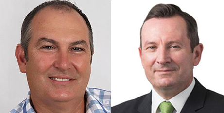 Rick Mazza and Mark McGowan (Facebook and Mark McGowan website)