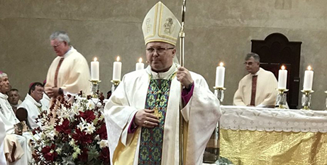 Bishop Karol Kulczycki SDS at St Mark's Cathedral in Port Pirie yesterday (The Southern Cross)