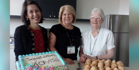 Volunteers celebrate the launch of the WA ACRATH office yesterday (ACRATH)