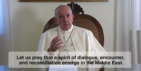 A screenshot from The Pope Video for this month (Vatican News)