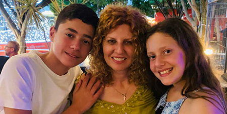 Bridget Sakr with her children Michael and the late Veronique (The Catholic Weekly/Supplied)