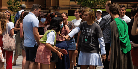 The protest at the University of Sydney on November 12 (The Catholic Weekly/Chriscoveries)