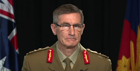 Australian Defence Force chief General Angus Campbell delivers the findings from the Afghanistan inquiry on November 19 in Canberra (ABC News)