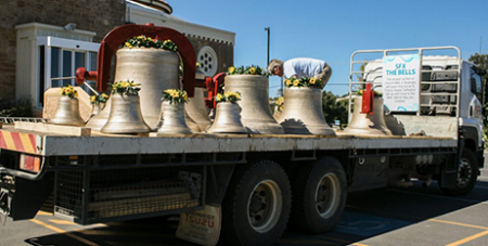 The new bells arrive in Geraldton (Supplied)