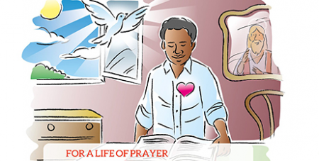 An illustration of Pope Francis' prayer intention for December 2020 was published by the Pope's Worldwide Prayer Network, formerly known as the Apostleship of Prayer (CNS/Pope's Worldwide Prayer Network)