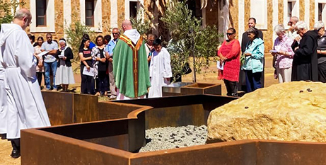 The blessing service at the Rock of Remembrance at New Norcia monastery and parish (The eRecord)