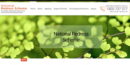 Establishing the redress scheme was a recommendation of the Royal Commission into Institutional Responses to Child Sexual Abuse (National Redress Scheme website)