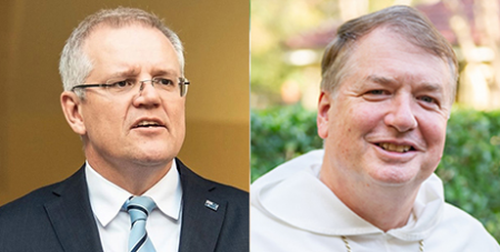 Scott Morrison and Archbishop Anthony Fisher OP (Facebook/ACBC)