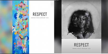 The front and back covers of the 'Shared Stories Anthology' (YouTube/SharedStories2020launch)