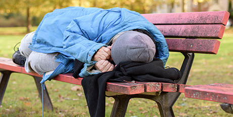 The report said nearly 8,000 rough sleepers helped as a response to the pandemic had left emergency accommodation by September 30 last year (Bigstock)