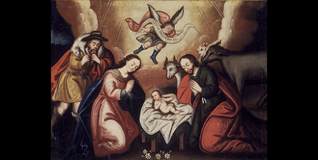 The Nativity, Cuzco School, Brooklyn Museum Collection online (Wikimedia)