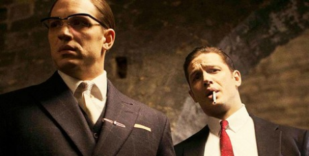Tom Hardy plays both Krays