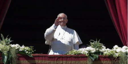 Francis delivers message