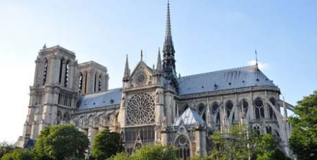 Notre Dame Cathedral in Paris before it was damaged by fire in 2019 - Wikipedia/sacratomato_hr